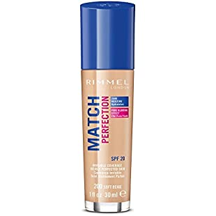 Rimmel London Match Perfection Foundation, 200 Soft Beige, 30 ml