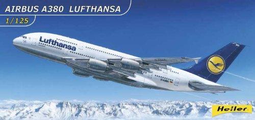 Heller 80439 Airbus A380 Lufthansa - Maqueta de avión para Montar a Escala 1:125 [Importado de Alemania]
