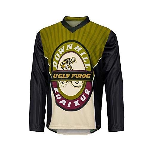 Uglyfrog SJF-CJ05 Designs Bike Wear Men's Downhill Jersey Rage MTB Top Cycle Motocross Mountain Bike Shirt Long Sleeve