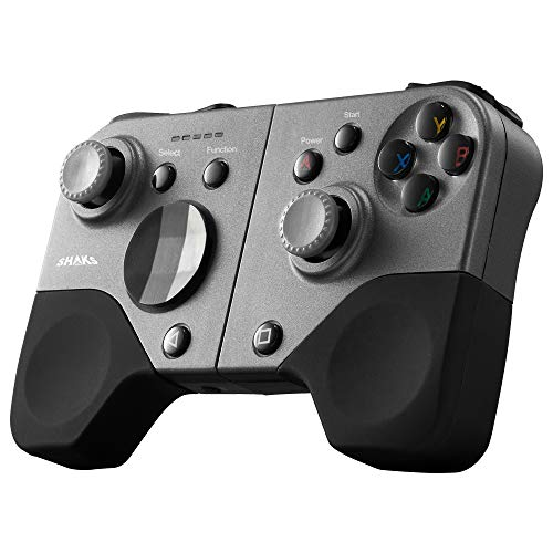 """SHAKS S5i powered by Qualcomm,truly wireless Gamepad Controller for Android,Windows,iOS,and supporting X-Cloud, Stadia, Geforce. Portable, light 5.6Oz, 6.5"""" width fit upto iphone XS Max,Galaxy Note 20"""