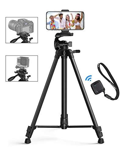 Handy Stativ, BlitzWolf 150cm Selfie Stick Kamera Stativ mit Bluetooth Fernbedienung Kompatibel mit LED-Ringlicht für iPhone 11 Pro Max/11 Pro/XS Max/XR/X, Samsung S10/S9/S8, Gopro Action Kamera usw.