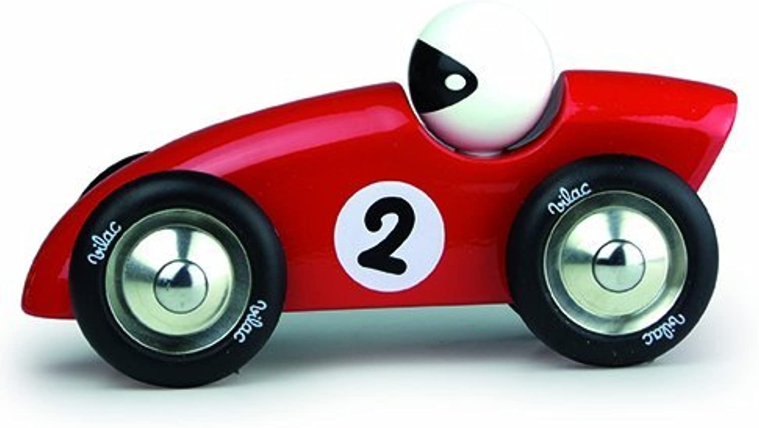Vilac 17 x 6.5 x 8.5 cm Competition Car (Large, rot) by Vilac