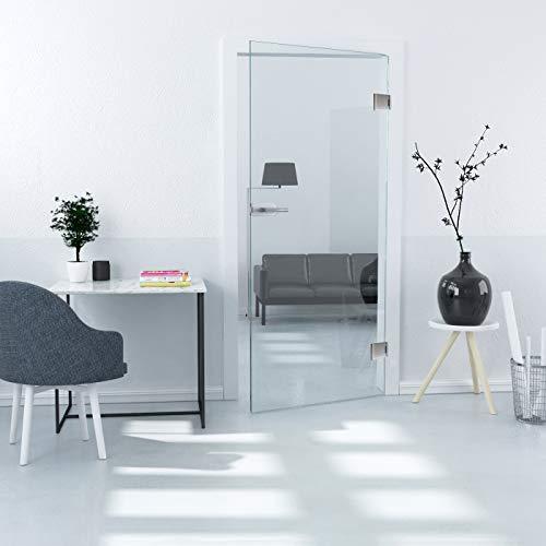 Volledig glazen deurblad helder ESG 8 mm x 834 mm x 1972 mm Office volledige glazen deur zweefdeur binnendeur kamerdeur draaideur kanteldeur