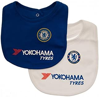 Chelsea Authentic EPL 2 Pack Baby Bibs Home and Away Colours