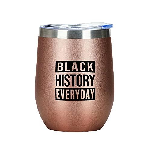 Vaso de vino con diseño de historia negra, para cócteles, cervezas, copas de vino aisladas, divertido regalo para hermana mayor, hermana pequeña, alma, hermana y hermana de oro rosa