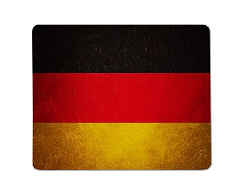 Yeuss Duitsland vlaggen Rechthoekige Niet-slip Mousepad Duitse vlag, grunge textuur achtergrond met krassen Gaming muismat 200mm x 240mm