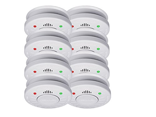 10er-Set SMARTWARES Rauchmelder mit 10 Jahres Batterie - VdS Zertifiziert + Stummschaltfunktion