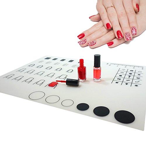 CPMA • DIY Nail Art Silikon-Matte • Stamping Decals für Nageldesign, Nagelkunst, Maniküre • Matte ist waschbar • Nail Art Stamp Plate • Nailstamping Mat