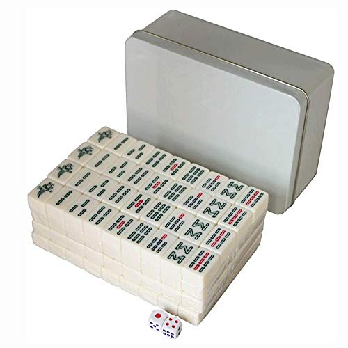 Big Shark Mini Mahjong Set, lustige Unterhaltung Mahjong Spielzeug for Haus mit Box-Paket for Freunde Unterhaltung