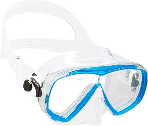 Cressi Estrella Mask Máscara de Buceo de Silicona Premium, Unisex-Adult, Transparent/Aquamarin, One Size