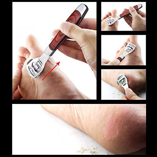 Foot Care Pedicure Callus Shaver Soins des pieds Pédicure Rasoir à callosités Décapant à peau dure Manche en bois Pédicure Rasoir à callosités Yiitay