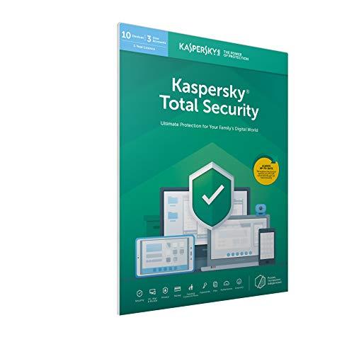 Kaspersky Lab total security 2020 (10 périphériques et 1 an) antivirus avec secure vpn et password manager pour pc / mac / android avec le code d'activation par la poste