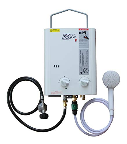 CampChamp Portable Propane Tankless Water Heater System