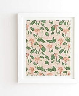 """Deny Designs Holli Zollinger White Framed Wall Art, 19"""" x 22.4"""", Desert Moonflower"""