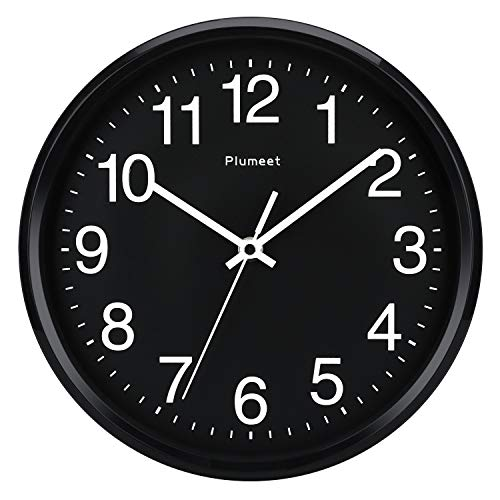 reloj de pared negro fabricante Plumeet