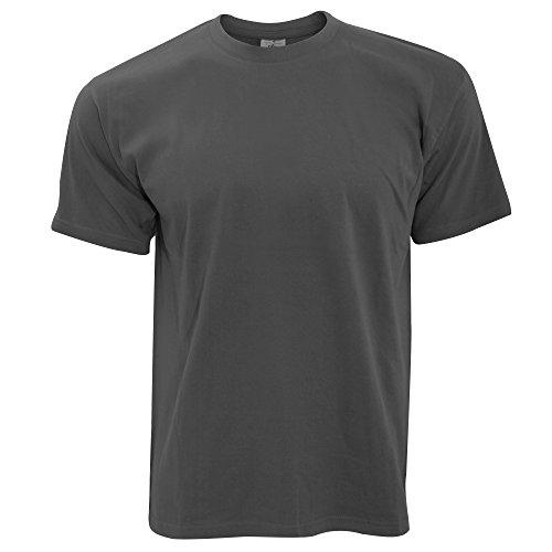 B&C Exact 190 Herren Kurzarm T-Shirt, Kurzarm (L) (Dunkelgrau)
