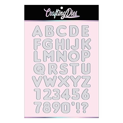 Crafting Dies Fustella Alfabeto Piccolo LONDON Fustella Metallica Thinlits Parole Numeri e Lettere 1 Cm