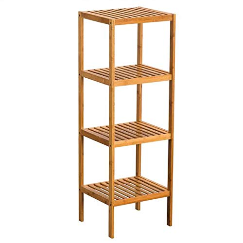 Odthelda Bamboo Bathroom Shelf 4-Tier Rack Multifunctional Storage Organizer