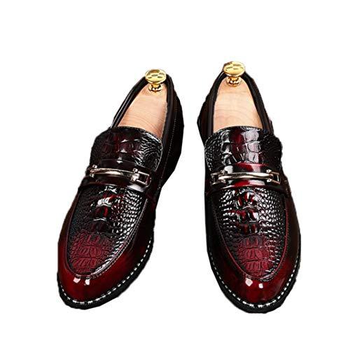 Hombres Zapatos de Vestir de Negocios Decoración de Metal Punta Estrecha Zapatos...