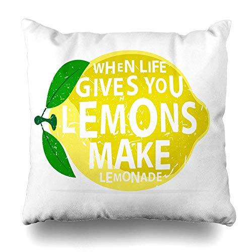 Egoa bank kussens wanneer het leven geeft decoratie u limonade citroenen maken texturen creatief eten citaat citroen geven drinken decoratieve kussensloop huisdecoratie 45X45Cm boek winkel Hostel kussen