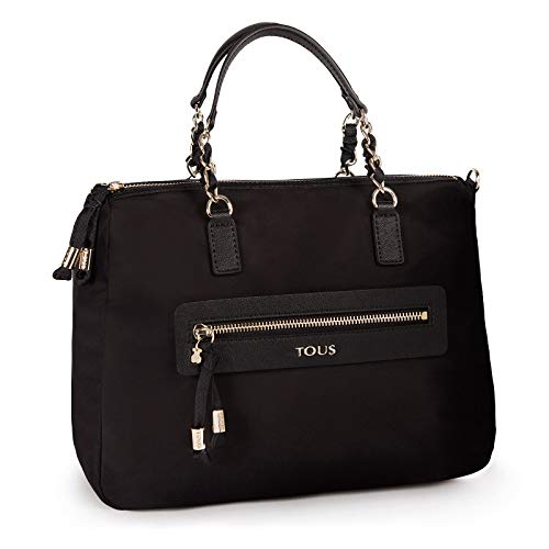Tous Efim Brunock Chain, Bolso de Mano para Mujer, (Negro 595900021), 28x20x13 cm (W x H x L)