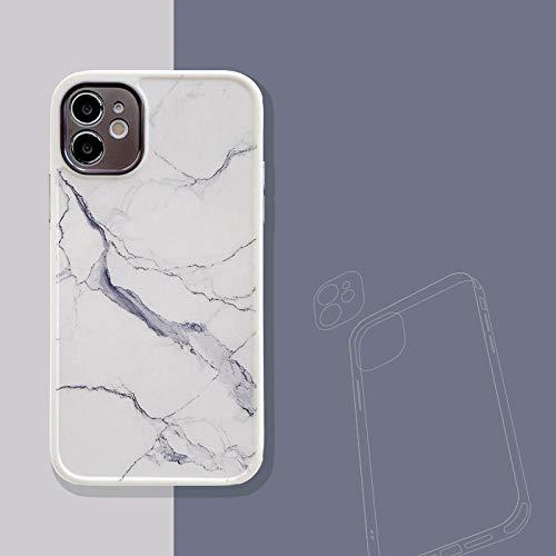 WEIYYY Estuche para teléfono para iPhone 12 Pro 12 Estuche para teléfono de mármol Vintage para iPhone 12 Mini 11 Pro MAX XR XS MAX 7 8 Plus SE 2 Contraportada Suave, 59, para iPhone XR