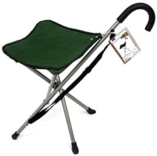 Folding cane chair – Walking stick with stool