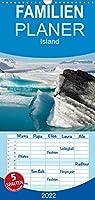 Island - Familienplaner hoch (Wandkalender 2022 , 21 cm x 45 cm, hoch): Land aus Feuer und Eis (Monatskalender, 14 Seiten )
