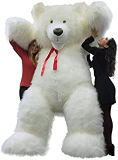 Big Plush American Made 9 Foot Soft Giant Teddy Bear 108 Inches White Long Fur Made in USA
