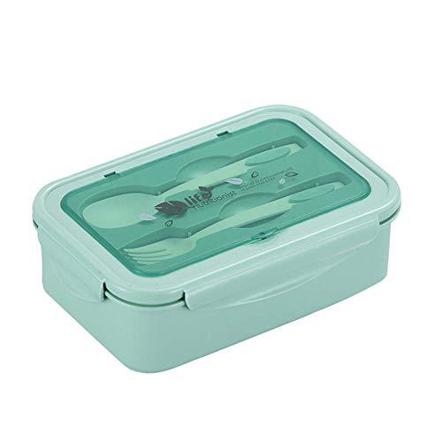 Estilo japonés Horno microondas Calefacción Doble capa Bento Box Tres compartimentos Partición Rectangular Plastic Lunch Box Set | Lunch Boxes | El |