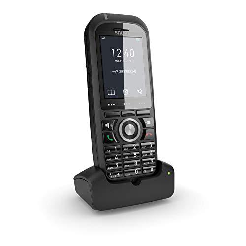 Snom M70 IP DECT Robustes Mobilteil EU / USA, VoIP, SIP, Bluetooth, HD, Alarmschlüssel, Vibration, Perfekt für den Außenbereich, Schwarz, 00004423