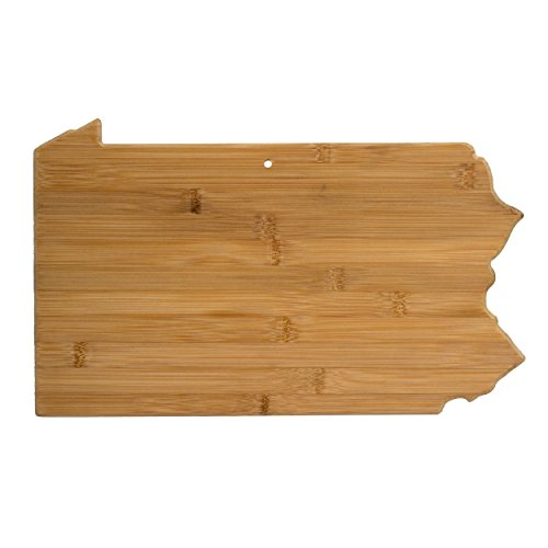 Totally Bamboo Pennsylvania State Shaped Bamboo Serving & Cutting Board