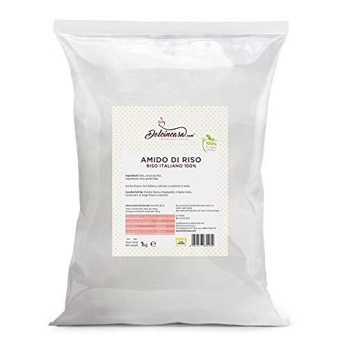 dolcincasa-com Amido di Riso, Puro Riso Italiano, White, 1 kg