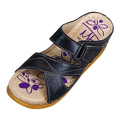 Damen Slides Keile Dick Unterseite Plattformen Draussen Schuhe Sandalen