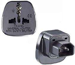 Tekit (2 Pack) IEC C14 to Universal Female AU US UK EU C13 Safe Socket Power Adapter AC Plug,Power Adapter Black Female So...