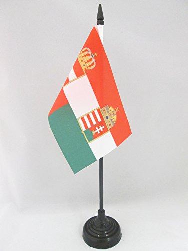 AZ FLAG TISCHFLAGGE ÖSTERREICH-UNGARN 1867-1918 15x10cm - ÖSTERREICHISCH-UNGARISCHE MONARCHIE TISCHFAHNE 10 x 15 cm - flaggen
