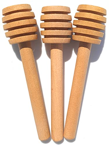 3 Pack Honey Dipper Stick | Honey Dipper-Charcuterie Accessories | Honeycomb Stick| Honeycomb Spoon | Charcuterie Utensils | Honey Spoon | Honey Server | Honey Stirrer | Honey Wooden Dipper 3 Inch