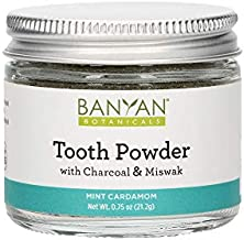 Banyan Botanicals Tooth Powder – Fluoride-Free Herbal Toothpaste Powder Alternative with Miswak & Charcoal – for Strong, Healthy Teeth & Gums – 0.75oz, 80+ Uses – Non GMO Sustainably Sourced Vegan