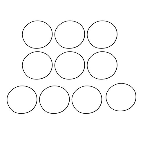 sourcing map 10Stk. O Ring Mechanische Gummi Öldichtung Dichtungen Schwarz 80mm x 1,5mm de
