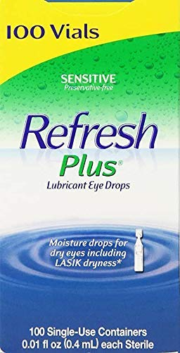 Refresh Plus Eye Drops -Preservative-free- Soothing Relief- Single-use Vials (100 ct.)