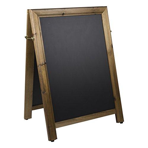 Tableaux Noirs Britannique de qualité carré sur Le Dessus d'un Cadre Tableau Noir, Bois, chêne foncé, 102 x 73 x 5 cm