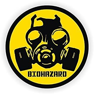 StickerDad Biohazard Gas MASK Full Color Printed Sticker (3 Pack) (Size: 3