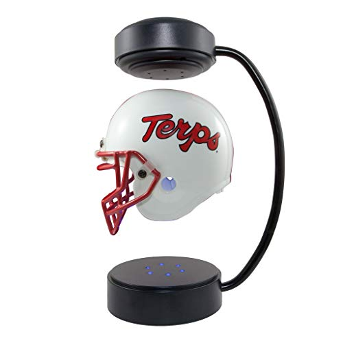 Maryland Terps NCAA Hover Helmet - Collectible Levitating Football Helmet with Electromagnetic Stand