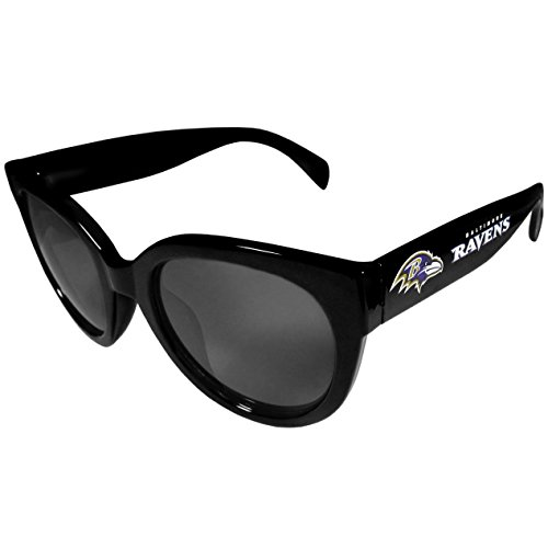 Siskiyou Sports NFL Baltimore Ravens Womens Sunglasses, Black