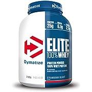 Dymatize Elite Whey Strawberry Blast 907 g - High Protein Low Sugar Powder + Whey Protein and BCAAs