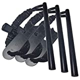 aipuya 3packs Ferrocerium Drilled Flint Fire Starter Ferro Rod Kit with Reflective Paracord Lanyard...