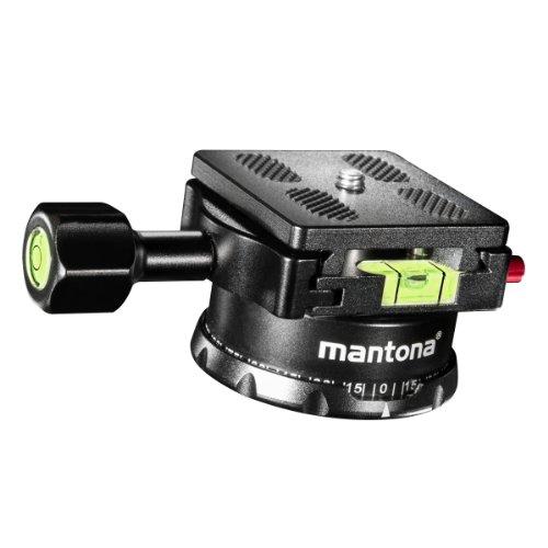 Mantona Panoramakopf 360 Grad inkl. Schnellwechselplatte und Wasserwaage