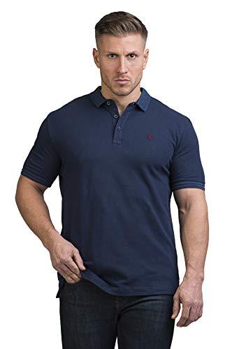 Rosenberg Polo Shirts Herren aus 100% Pique Baumwolle I Poloshirt Herren Classic in Blau Grün und Weiß I Deutsche Marke (XL, dunkelblau)
