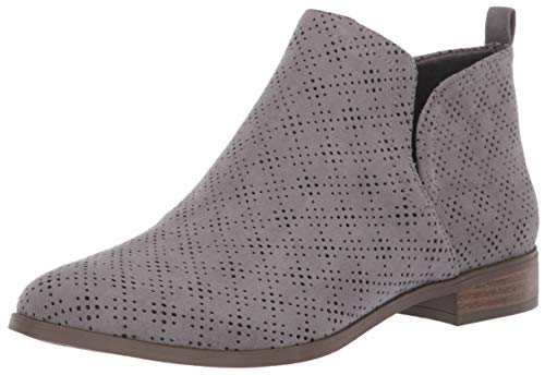 Dr. Scholl's Shoes Women's Rise Ankle Boot, Dark Shadow Grey Microfiber Perforated, 6.5 M US