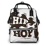 Dnwha Hip-Hop-Design Spray Luftballon Hintergrund Camping Windeltasche Wasserdicht Canvas Laptop Rucksack Personalisiert Reise Rucksack Student Rucksack College Bag